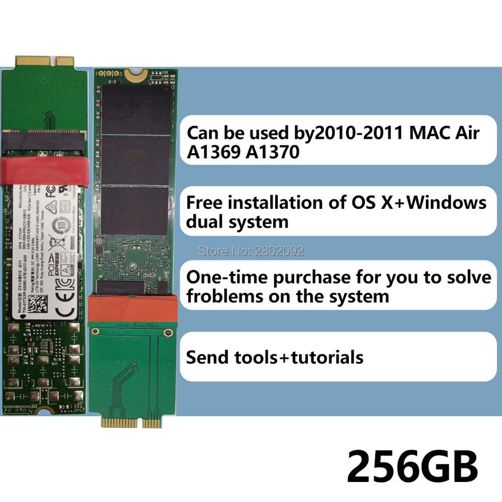 NOUVEAU 256 GB SSD Pour 2010 2011 Macbook Air A1369 A1370 SOLIDE STATE DISK MC503 MC504 MC505 MC 506 MC965 MC966 MC968 MC969 SSD