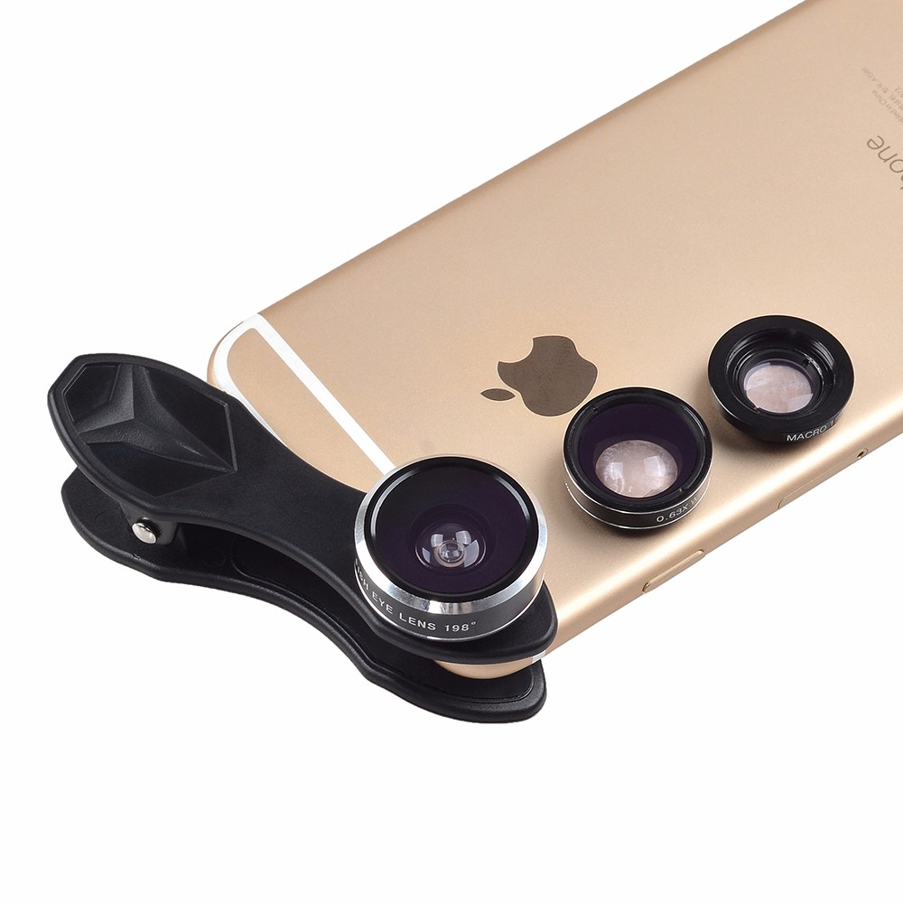APEXEL 6IN1 phone camera lens 12X Telescope telephoto Zoom+fisheye wide angle macro Lens kit For iPhone7 6S plus Samsung s8 15