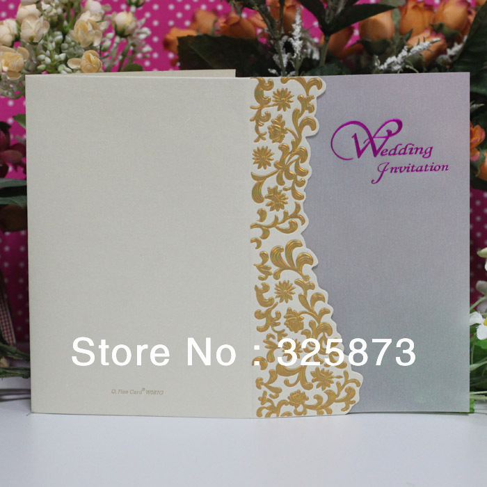Online Shop 2013 Beautiful ROSE Flower High Quality Paper Quilling Wedding Cards Invitation Guarantee With LOW Price