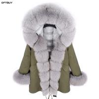 Brand 2019 Real Fox Fur Collar Hood Winter Jacket Women Long Parka White Duck Down Jacket Liner Thick Warm Parkas Streetwear