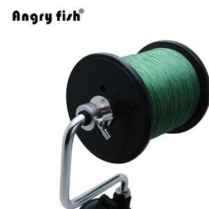 Image 4 - Angryfish przenośna aluminiowa żyłka linia Winder szpuli szpula System narzędzie walki przyssawka Sea Carp narzędzia wędkarskie