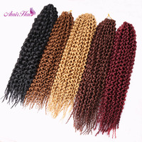 Amir Hair 9packs Synthetic Havana Twitst Crochet Braids With 18inch Black Blond And Burgundy Deep Curl