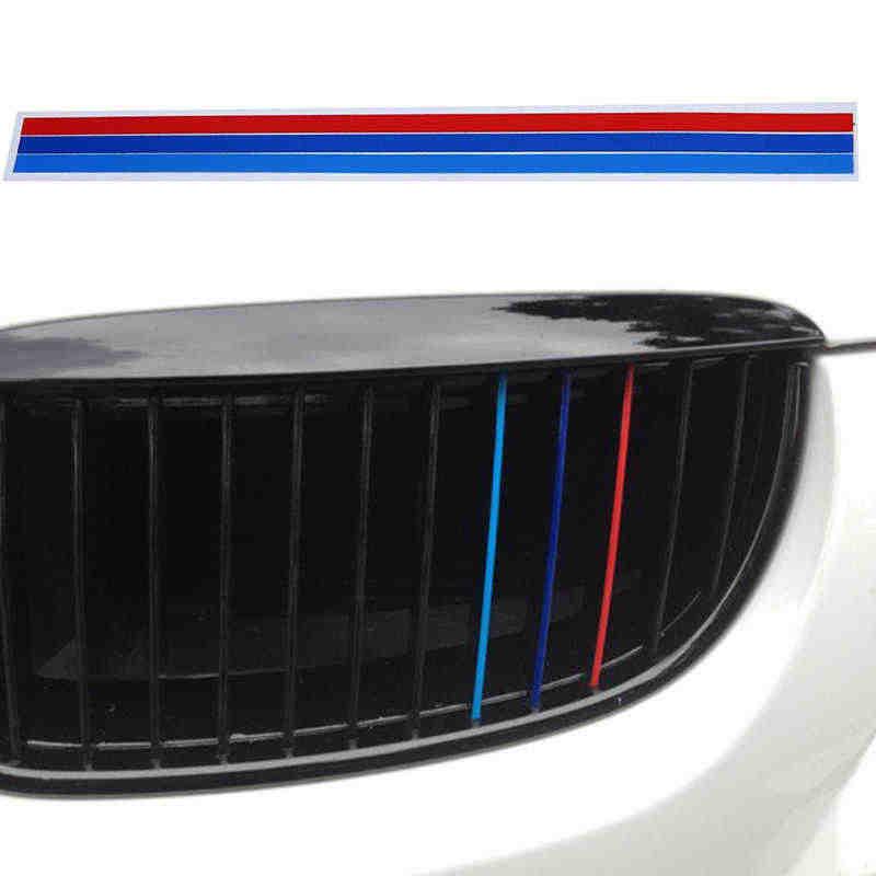 Für BMW 3-farbe Auto Aufkleber Gitter Streifen Grid Einsetzen Dekoration Rückspiegel Aufkleber Auto Tür Protector Auto Zubehör