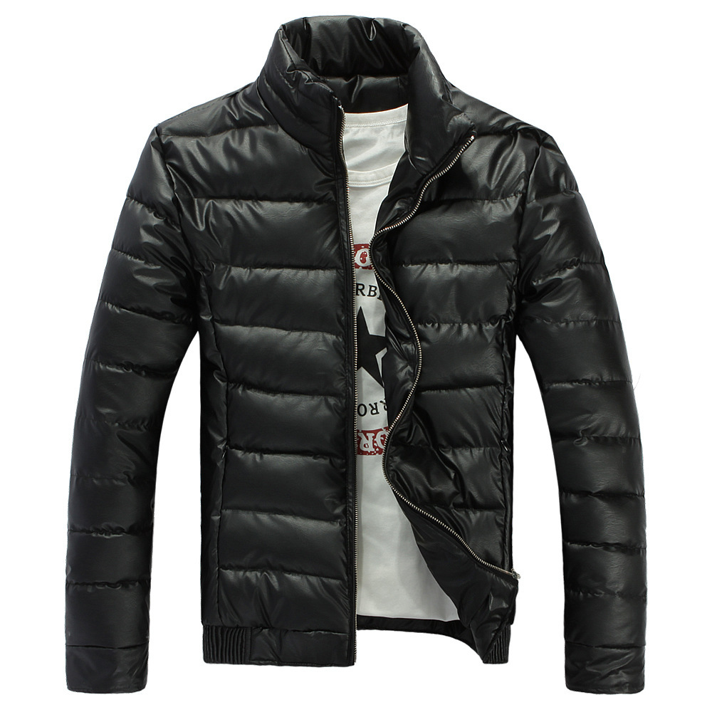 Fashion Stand Collar Mens Padded Winter Jackets Mens Thick Warm Parkas Hombre Invierno Waterproof