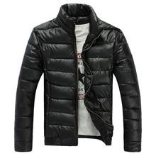 2014 Новая мода Тонкий зимняя куртка Хорошее качество Стенд воротник хлопка мягкой мужская зимняя куртка Размер M, чтобы 3XL