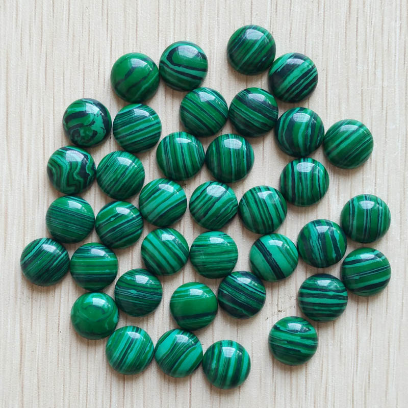 2016 fashion top quality malachite stone round CAB CABOCHON stone beads for jewelry Accessories 12mm wholesale 50pcs/lot free