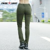 Good Figure Full Length Pants Women Autumn Military Green Jean Pants Female Casual Joggers Women Bottom Female Trousers Winter