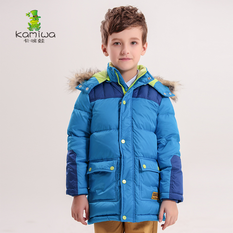 Boys Winter Coat baby kids coat Cotton-padded Long Warm Parkas Children's Clothing Kids Clothes Hooded with fur winter coats womens parkas with fur hoods winter warm long denim jeans velvet hooded long ladies wool coat jacket 2017 plus size blue clothes