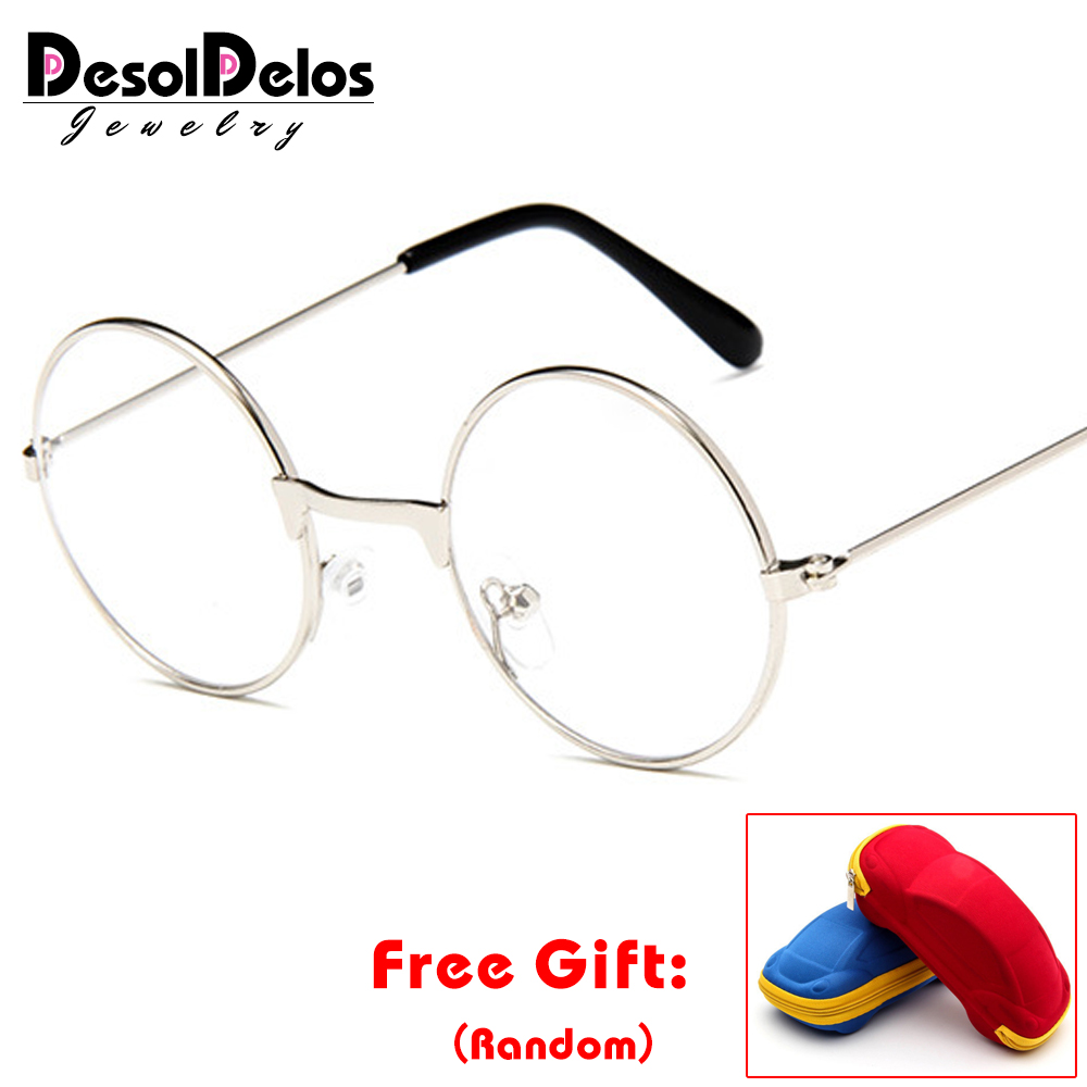 2019 Round Children Glasses Frame Baby Boys Girls Eyeglasses Frame Vintage Kids Clear Lens Optical Spectacle 2-9 Old With Box