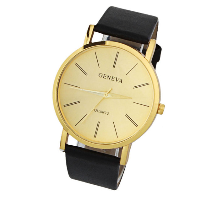 Mens watches top brand luxury 2018 Geneva Gold Classics Trade Fashion Casual  Dignified Simple Table Sport Watch relogios F80