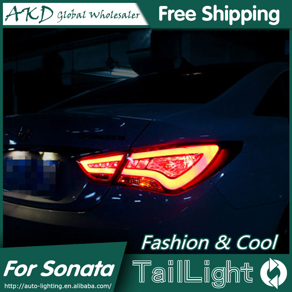 One-Stop Shopping Styling for Hyundai Sonata LED Tail Lights 2011-2014 Sonata 8 Tail Light Rear Lamp DRL+Brake+Park+Signal car styling tail lamp for hyundai rohens tail lights led tail light rear lamp led drl brake park signal stop lamp