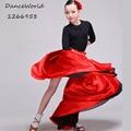 2016 Latin dance Costume children's Flamenco Dance dress red bull dance costume