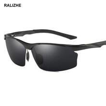 Mens Hot Vintage Aluminum Magnesium Alloy Polarized Sunglasses Male Night Vision Driving Goggles Retro Brand Sun Glasses UV400