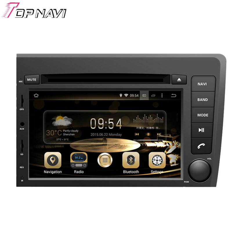 Topnavi 7 '', четыре ядра, 4 Гб + 32G Автомобильный dvd плеер Android 6,0 Радио стерео для VOLVO S60/V70 2001 2002 2003 2004 gps навигацией, Wi Fi
