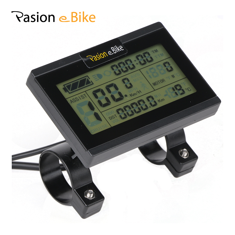 PASION E BIKE Control Panel 24V 36V 48V LCD Display Electric Bike Electric Bicycle Computer Parts For Sondors Bikes USA Display