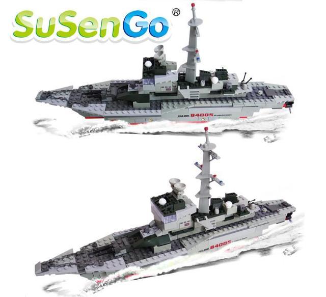 Juguete bloques de construcción de la fragata swat buque de guerra 228 unids susengo figuras diy ladrillos niños embroma el regalo