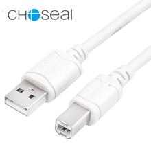 Choseal 30-летие QS5307 USB 2,0 PrintType B Мужской высокоскоростной принтер кабель для подключения компьютера с принтером