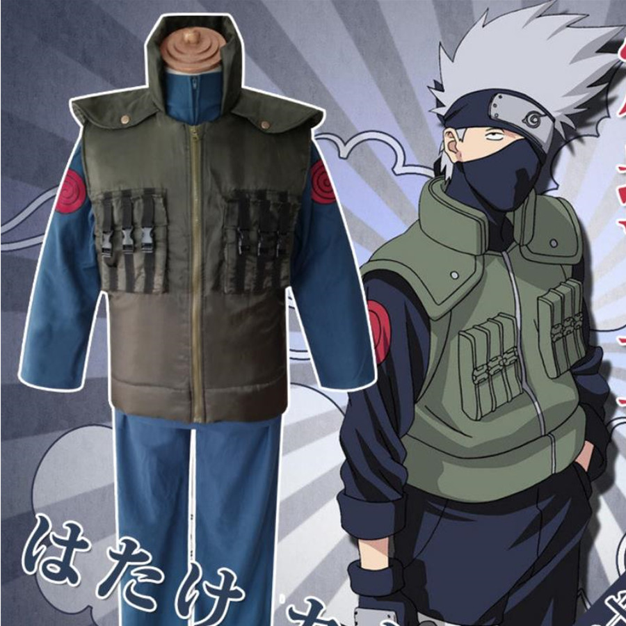 Naruto Hatake Kakashi Cosplay Costume Anime Set Coat Costume Cloth Cosplay Jacket