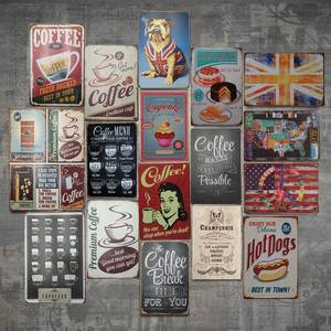 ISHOWTIENDA Tin Sign Poster Decoration Plaque-Bar Cafe Pub Home-Plate Vintage Metal Club