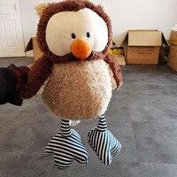 45cm Lovely Owl Doll Soft Plush Toys PP Cotton Stuffed Animal Owl Plush Doll Toy Children Toys Kids Birthday Gift