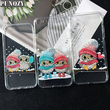 Funny Cute Owl Couple Cartoon Animal gifts Patterned Case For iPhone 11 Pro MAX XR 7 7S 6S 4S 5S SE 7 8 Plus X XS MAX TPU Cover