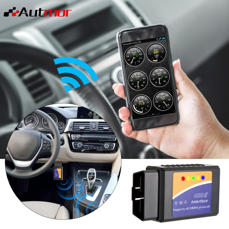 Car WIFI OBD 2 Wireless Car Code Reader Scan Tool Scanner Adapter Check Engine Diagnostic Tool For IOS Apple IPhone IPad Andorid