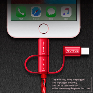 Image 5 - SB Cable Charging Charger 3 in 1 Micro USB Cable For Android USB TypeC Mobile Phone Cables For Samsung S9 For iPhone 6 7 8 XS X