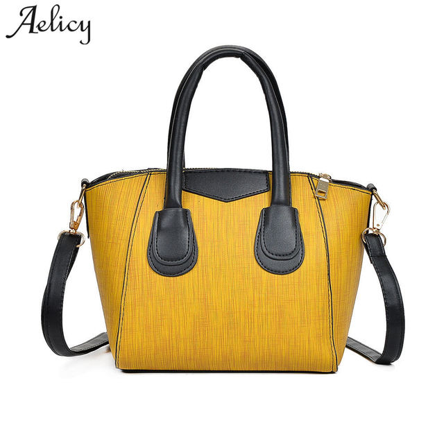 5bb519ece Aelicy Moda Couro PU Top-Handle Sacos de Bolsas de Grife de Alta Qualidade  Sacos