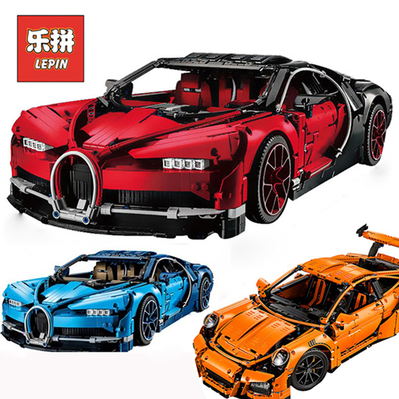 Lepin 20086B Technic Red Bugattied Super Racing Car Set Building Blocks Bricks Compatible Legoing 42083 Toys For children Gift waz compatible legoe technic series 75913 lepin 21010 914pcs super racing car red truck building blocks bricks toys for children