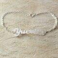 Liga Personalizado pulseira nome, liga iniciais carta nome brcelet, o melhor presente para o seu amor