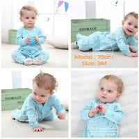 Nieuwe Geboren Baby Kleding 3-12M Kinderen Footed Pyjama Baby Jongens Meisjes Katoen Lente Roupas Cartoon Algehele Baby boutique Kleren Uit 3