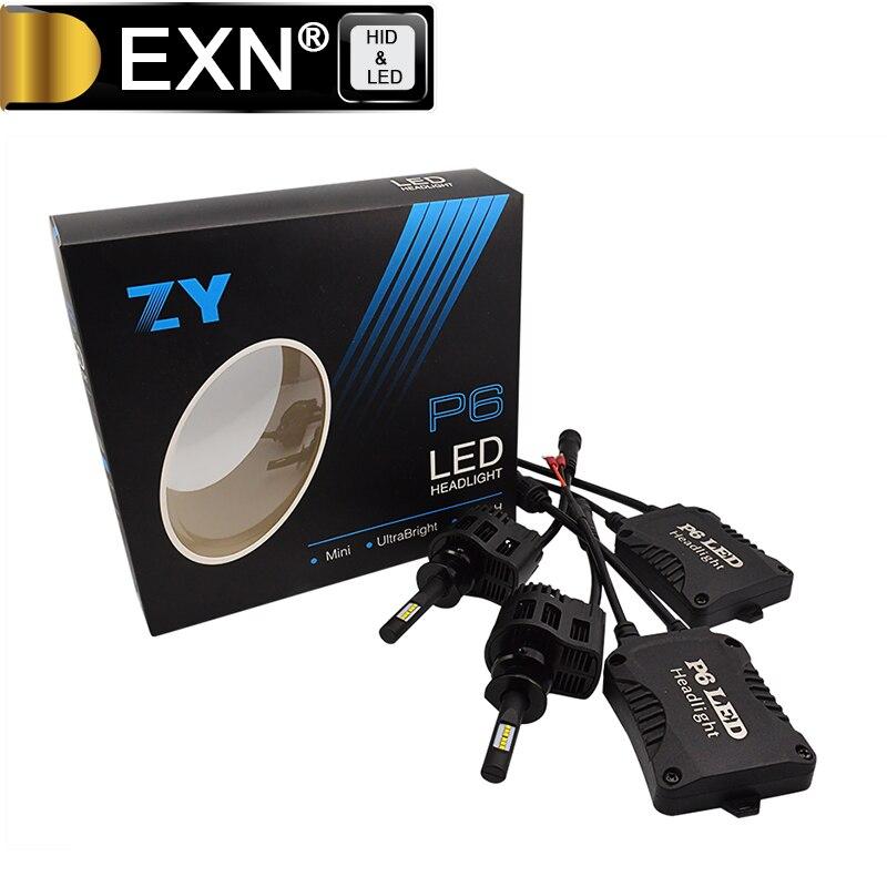 Haute Qualité 2x90 W 9000LM H1 LED Phare Kit Lumière Lampe 6000 K blanc P6 LED Projecteur Ampoule H1 Haute Puissance H3 H7 H8 H11 disponible