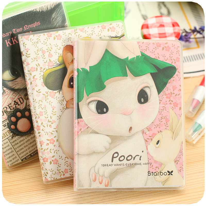 cute korean stationery POORI cat schedule agenda 2016 2017 year plan notebook weekly monthly planner libreta y cuadernos caderno цены