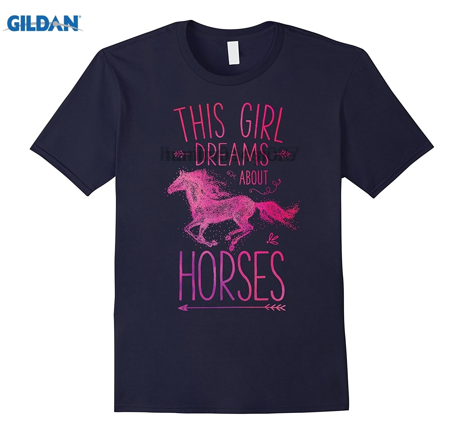 GILDAN This Girl Dreams About Horses T Shirt I Love Horse Riding ...