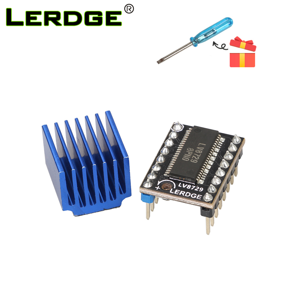 LERDGE LV8729 Stepper Motor Driver 3D Printer Kit 4-layer substrat ultra quiet driver Controll 128 Subdivisions