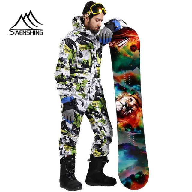 SAENSHING лыжный костюм мужской зимний непромокаемый толстый теплый сноуборд куртка цельный лыжный Комбинезон спортивный сноуборд и горные лыжи