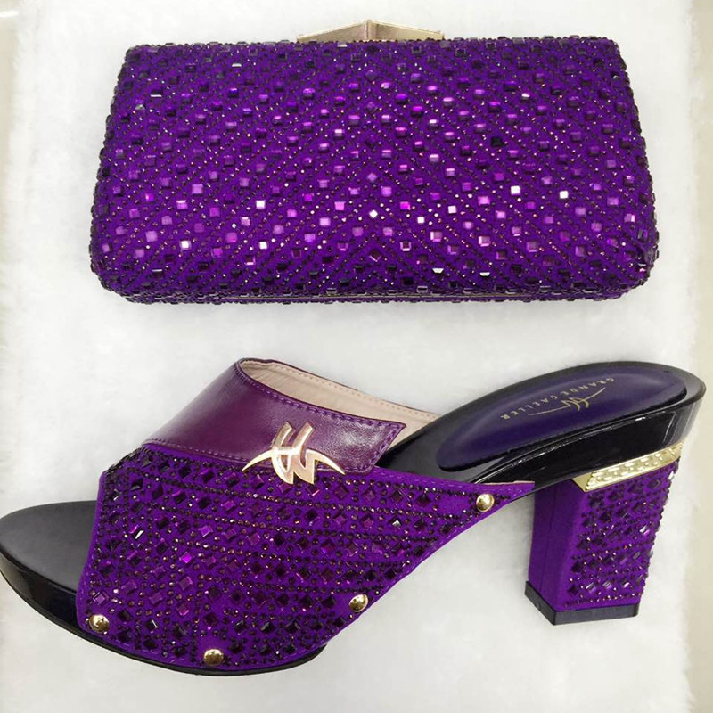 ФОТО Fashion Design Italian Matching Shoe And Bag African Wedding Shoe And Bag Sets Women Sandal With Bag To Match For Parties TT16