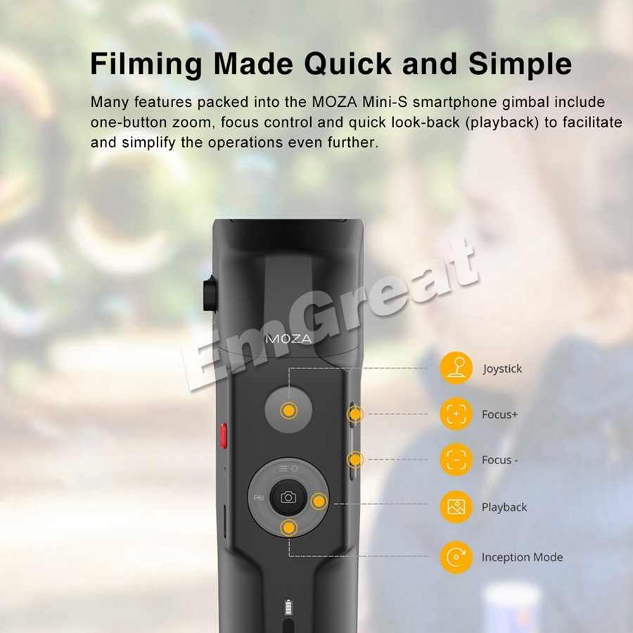 Moza мини-S мини S складной карманный 3 оси ручной карданный стабилизатор для iPhone XS Max GoPro VS мини-ми гладкой 4 Vimble 2