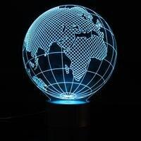 3D Visuelle USB FÜHRTE Globus Karte Nachtlicht 7 Farbwechsel Tisch Schreibtisch Lampe Bunte Atmosphäre Schlafzimmer Neuheit Beleuchtung