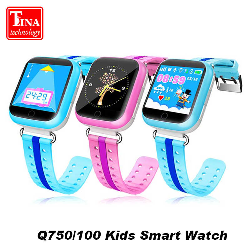 Original Q750 Q100 GPS Baby Smart Watch SOS Call With 1.54inch Touch Screen Location Device Tracker for Kid Safe Smart Watch