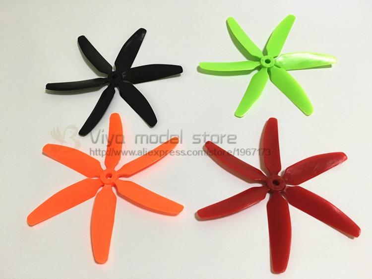 wholesale 200pcs/ 100 pairs 5040 propeller 6 blades for DIY mini race FPV drones QAV180/QAV210 /qav-R220/QAV250 / ZMR250/robocat wdiy motor2204 2300kv qav x qav210  4s