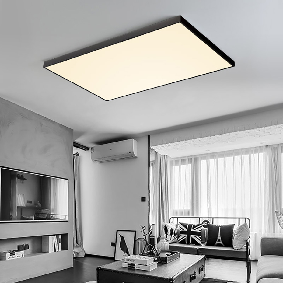 Hawboirry Led Ceiling Light Modern Lamp Living Room Lighting Fixture Bedroom Kitchen Surface Mount Flush Panel Remote Control Ceiling Lights