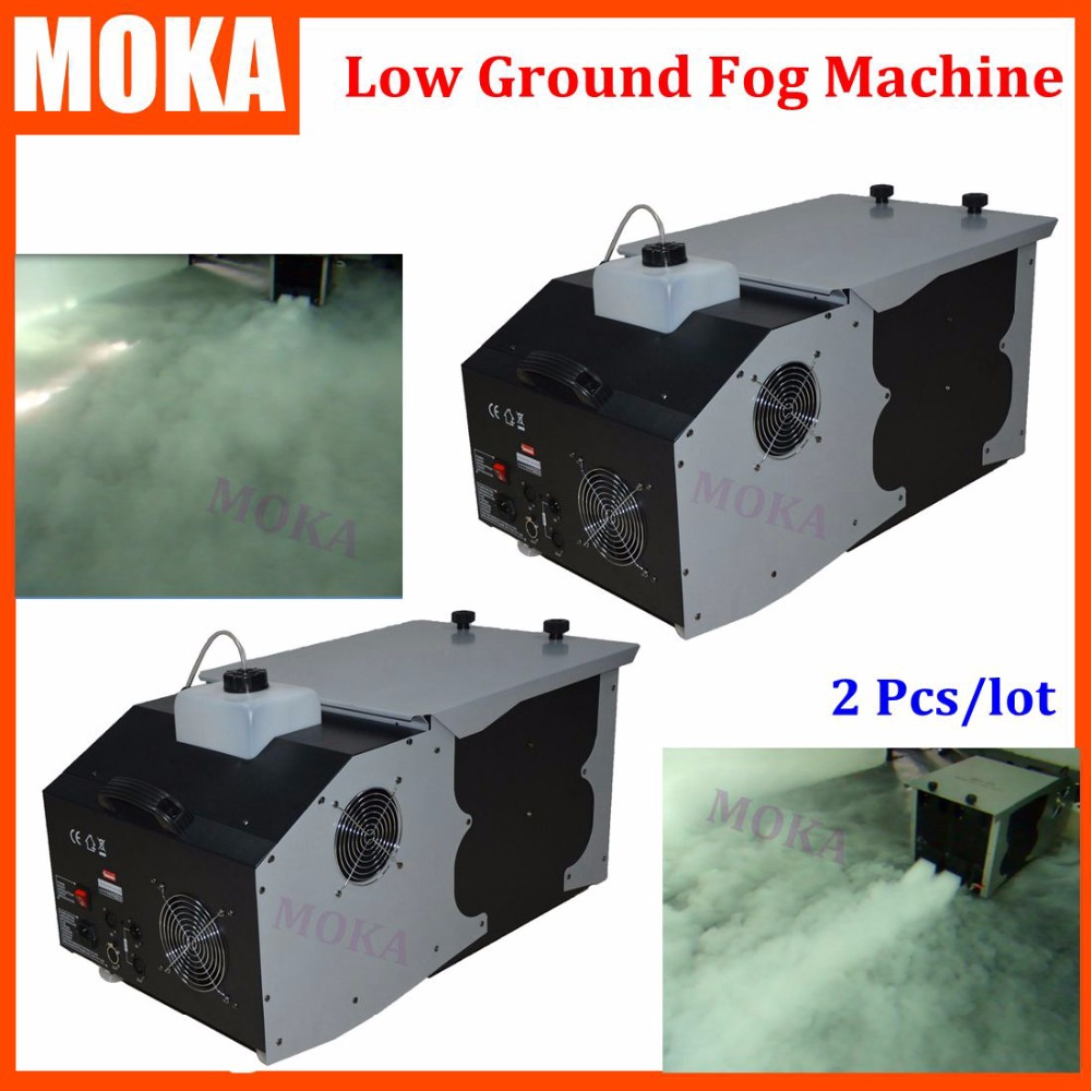 2 Pcs/lot 3000W low ground stage <font><b>dmx</b></font> <font><b>fog</b></font> machine <font><b>hazer</b></font> Up-Spray smoke machine Professional Fogger Stage Equipment image