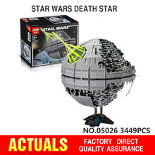 IN STOCK 3449pcs LEPIN 05026 Star Wars Death Star Building Block Bricks Toys Kits Minifigure Compatible with 10188 Child Gift