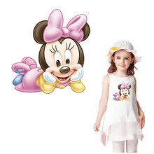 cartoon minnie mouse iron on stickers washable appliques A-level patches heat transfer for kids DIY T-shirt accessory Clothes