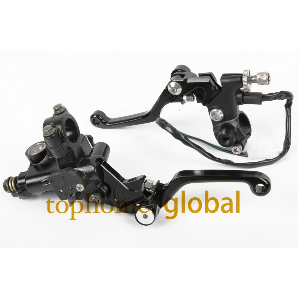 7/8 New CNC Brake Master Cylinder Pressure Switch Reservoir Levers Dirt Pit Bike Set For Yamaha XT250X 2006-2007 2008 Black jiangdong engine jd495t for tractor like jinma luzhong etc the water pump part number