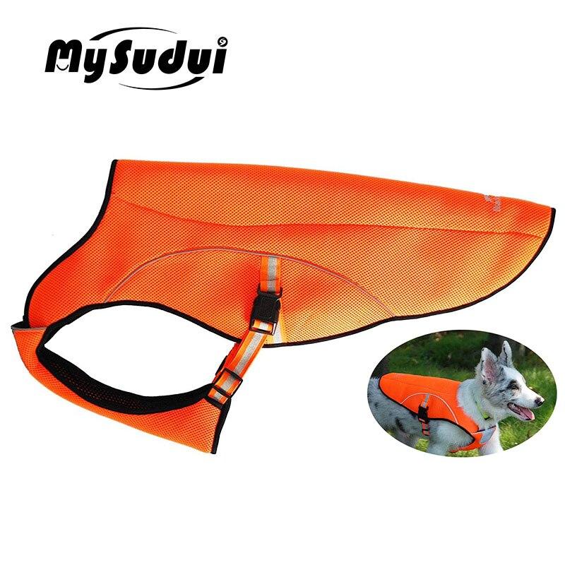 MySudui Summer Dog Cooling Vest Reflective Pet Vests Outdoor Soft Mesh Clothes Jacket Clothing Adjustable