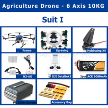 New EFT E610 6 axis 10KG Pesticide spraying system Agricultural  drone