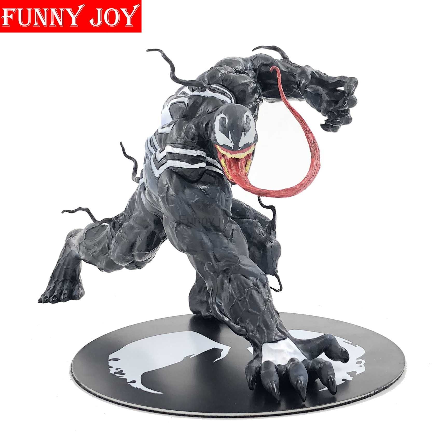 Spider Man Venom Figura ARTFX + X HOMENS X-MEN Edward Brock Iron Man Wolverine PVC Action Figure Modelo Coleção Toy presente