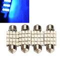 4 PCS 36mm 16 SMD/SMT 3528-SMD LED Carro Luzes Dome Car Interior Festoon Dome Lâmpada Luz Brilhante azul